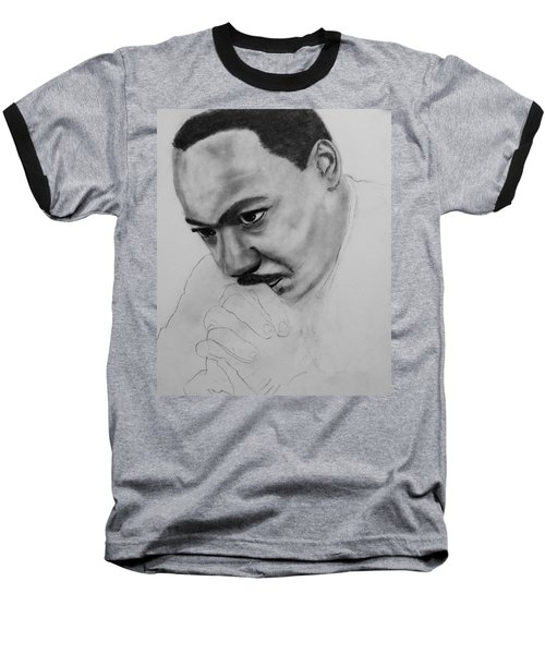 Baseball T-Shirt featuring the drawing Martin Luther King Jr. Mlk Jr. by Michael Cross