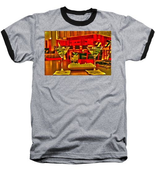 Martini Time Baseball T-Shirt