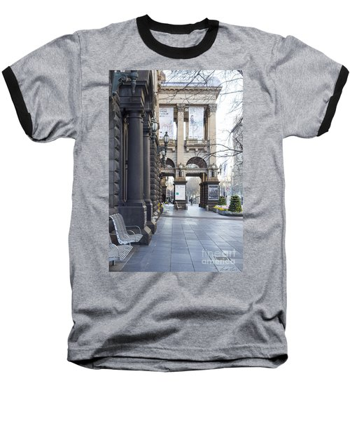 Marvellous Melbourne 3 Baseball T-Shirt by Linda Lees