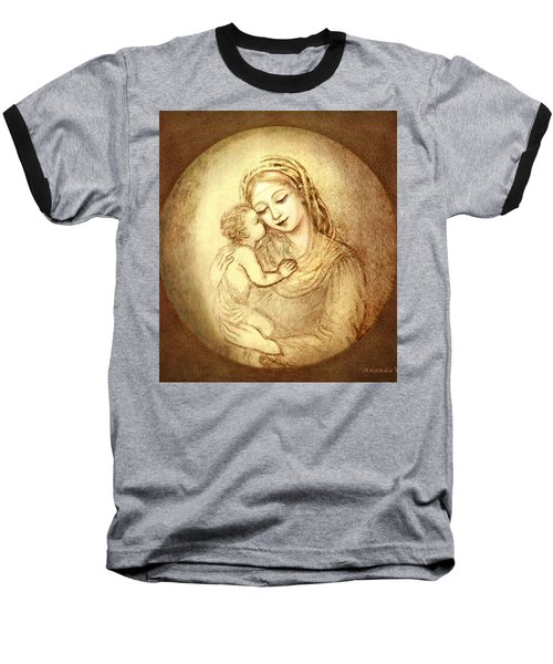 Mary And Jesus Baseball T-Shirt