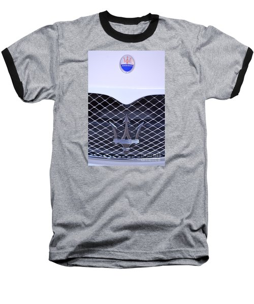 Maserati Emblems Baseball T-Shirt by Pamela Walrath
