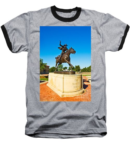 Baseball T-Shirt featuring the photograph Masked Rider Statue by Mae Wertz