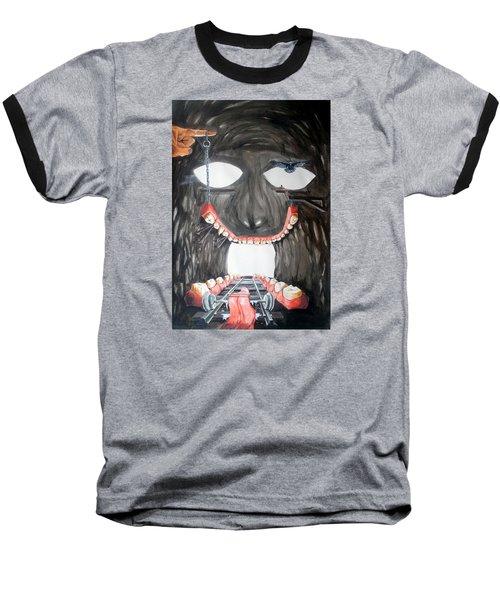 Baseball T-Shirt featuring the painting Masquera Carcaza  by Lazaro Hurtado