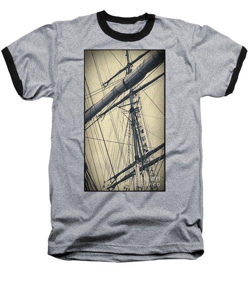 Mast And Rigging Postcard Baseball T-Shirt