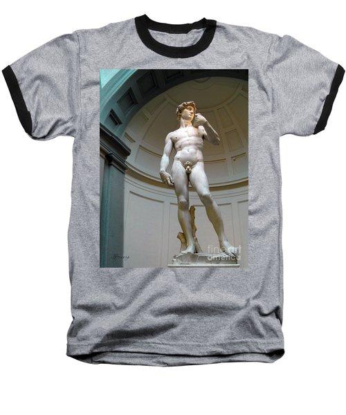Masterpiece David.florence Baseball T-Shirt by Jennie Breeze