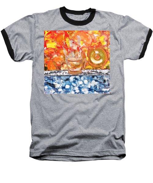 Baseball T-Shirt featuring the painting Matinal by Evelina Popilian