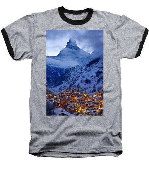 Matterhorn At Twilight Baseball T-Shirt by Brian Jannsen