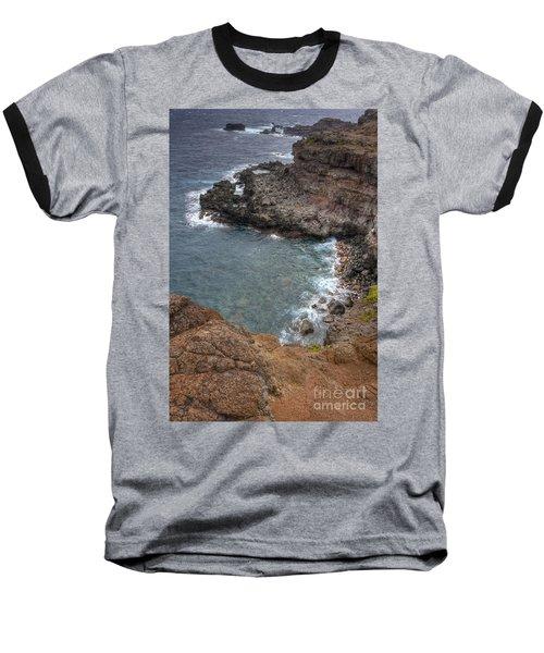 Baseball T-Shirt featuring the photograph Maui Cliff by Bryan Keil