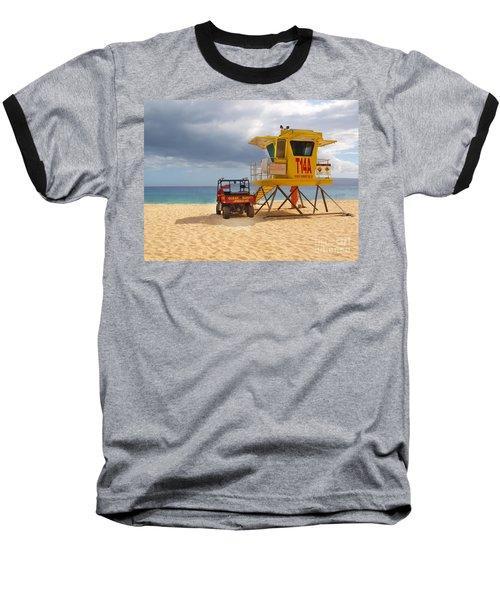 Maui Lifeguard Tower Baseball T-Shirt