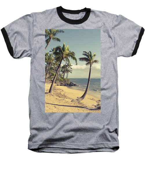 Baseball T-Shirt featuring the photograph Maui Lu Beach Hawaii by Sharon Mau