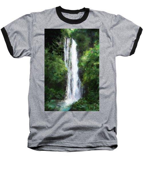 Maui Waterfall Baseball T-Shirt by Susan Kinney