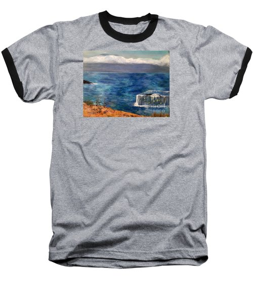 Baseball T-Shirt featuring the painting Frida Goes To Maui by Vanessa Palomino
