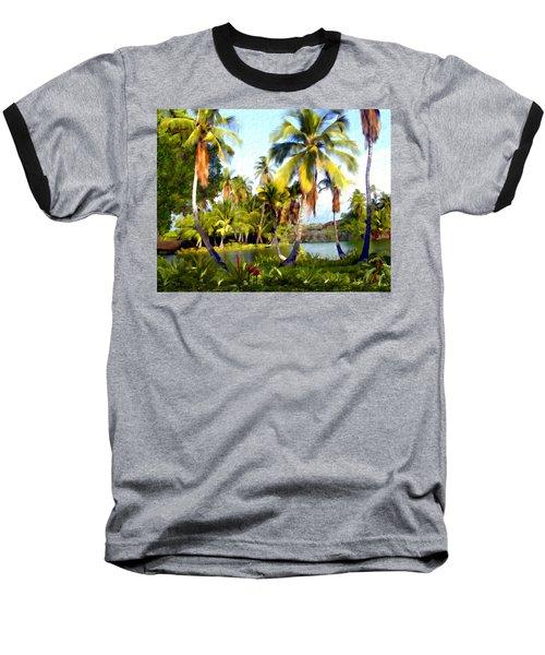 Mauna Lani Fish Ponds Baseball T-Shirt