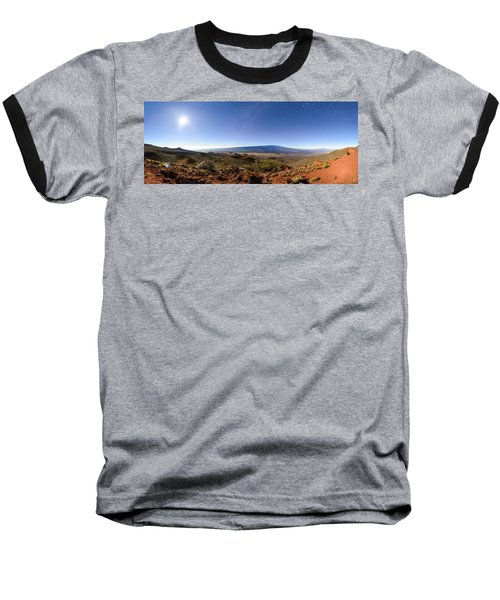 Mauna Loa Moonlight Panorama Baseball T-Shirt