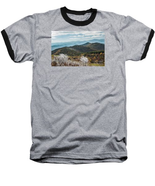 Baseball T-Shirt featuring the photograph Max Patch In Appalachian Mountains by Debbie Green