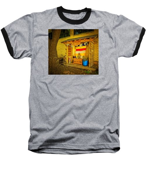 Baseball T-Shirt featuring the photograph May All Beings Be Free From Suffering by MJ Olsen
