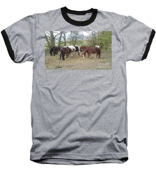 Baseball T-Shirt featuring the photograph May Hill Ponies 3 by John Williams