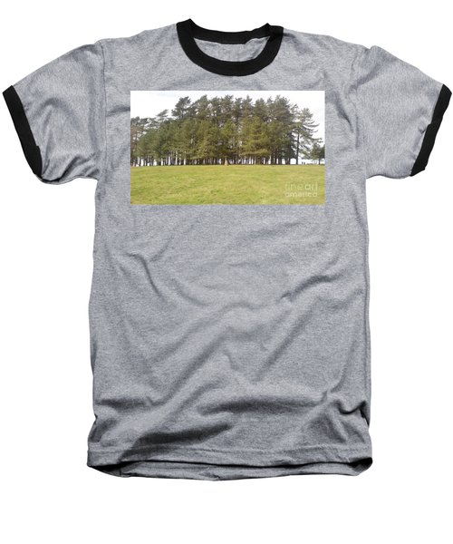 Baseball T-Shirt featuring the photograph May Hill Tree Tops by John Williams