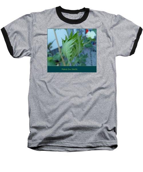 May Peace On Earth Baseball T-Shirt by Lingfai Leung