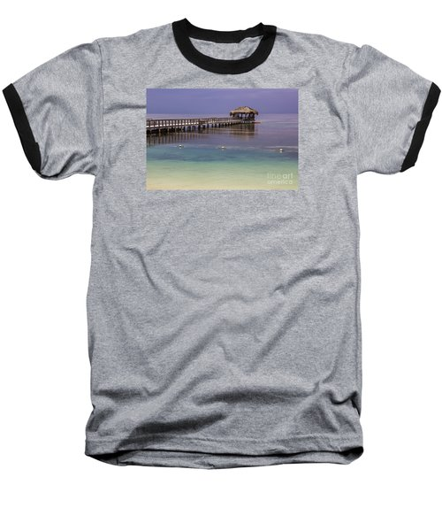 Maya Key Pier At Roatan Baseball T-Shirt by Suzanne Luft