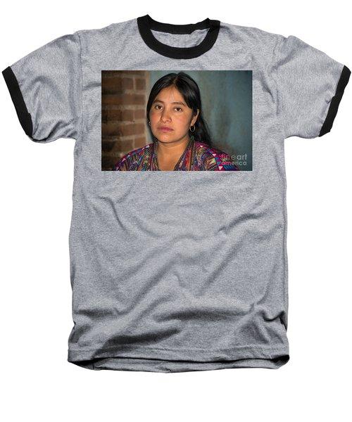 Mayan Girl Baseball T-Shirt
