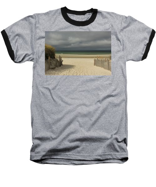 Baseball T-Shirt featuring the photograph Mayflower Beach Storm by Amazing Jules