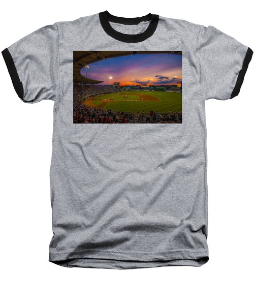 Mccoy Stadium Sunset Baseball T-Shirt