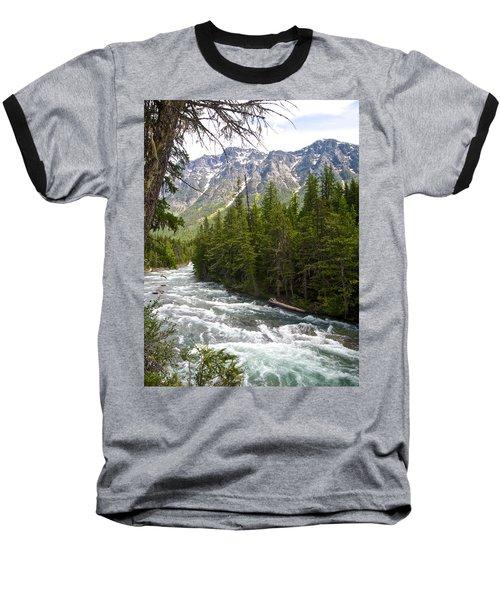 Mcdonald Creek In Glacier Np-mt Baseball T-Shirt