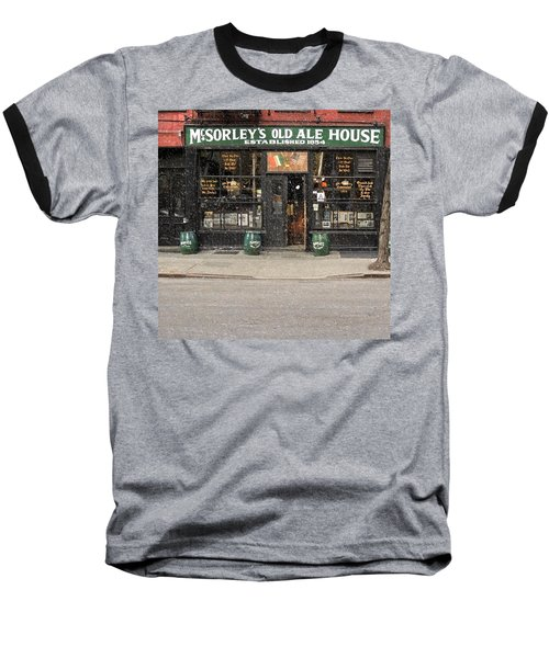 Mcsorley's Old Ale House During A Snow Storm Baseball T-Shirt