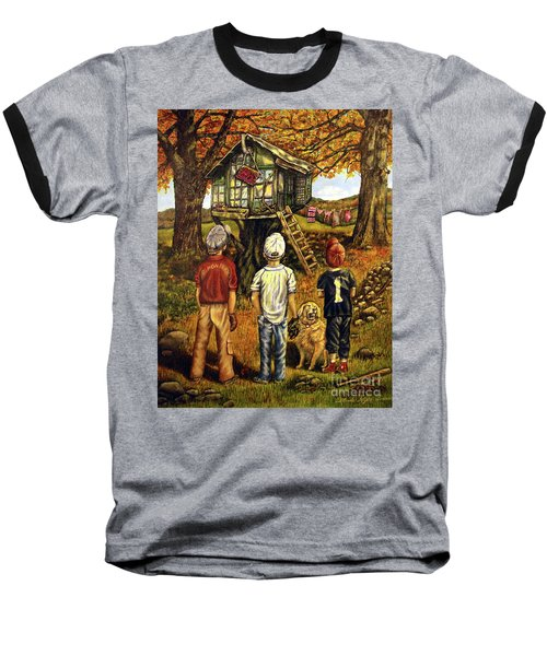 Meadow Haven Baseball T-Shirt by Linda Simon