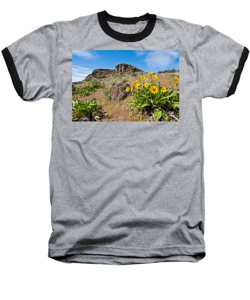 Baseball T-Shirt featuring the photograph Meadow Of Arrowleaf Balsamroot by Jeff Goulden