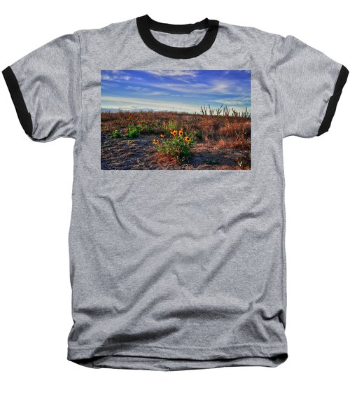 Baseball T-Shirt featuring the photograph Meadow Of Wild Flowers by Eti Reid