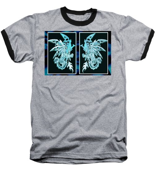 Mech Dragons Diamond Ice Crystals Baseball T-Shirt