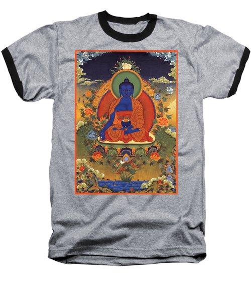 Medicine Buddha 8 Baseball T-Shirt by Lanjee Chee