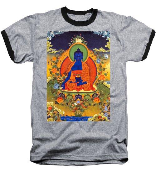 Medicine Buddha Baseball T-Shirt by Lanjee Chee
