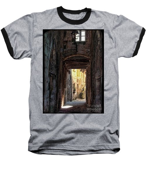 Medieval Alley Baseball T-Shirt by Joan  Minchak