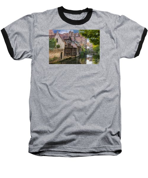 Medieval Bruges Baseball T-Shirt by Juli Scalzi