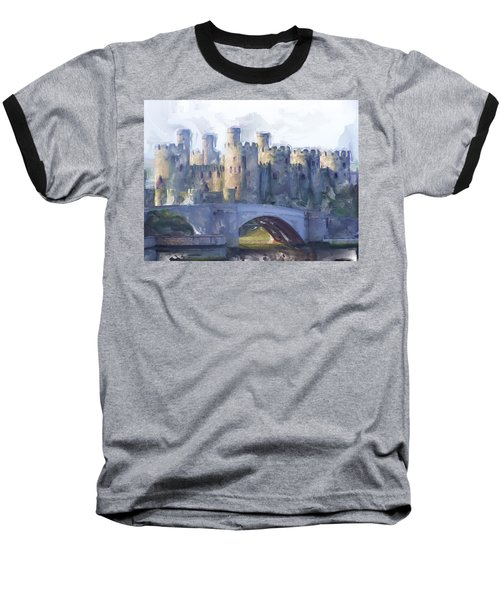 Medieval Conwy Castle.  Baseball T-Shirt