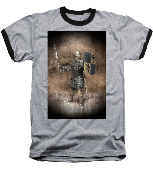 Medieval Knight Baseball T-Shirt by Aaron Berg