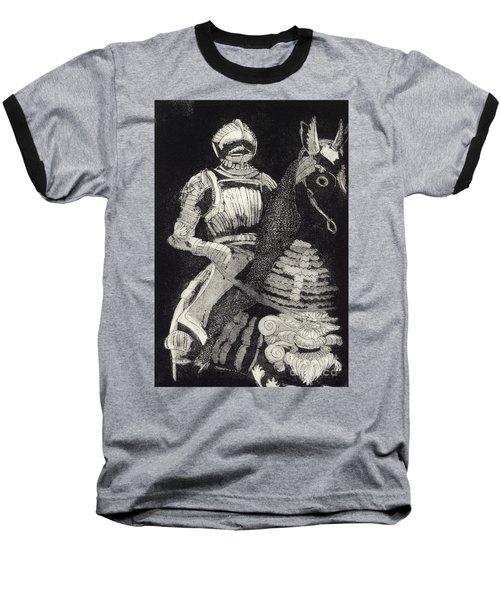 Medieval Knight On Horseback - Chevalier - Caballero - Cavaleiro - Fidalgo - Riddare -ridder -ritter Baseball T-Shirt