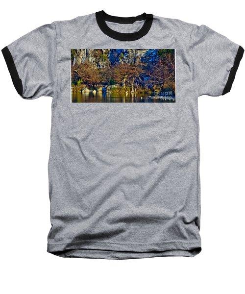 Medina River At Comanche Cliffs Baseball T-Shirt