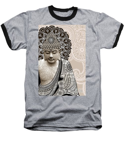 Meditation Mehndi - Paisley Buddha Artwork - Copyrighted Baseball T-Shirt