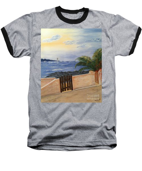 Mediterranean Bbmb0001 Baseball T-Shirt by Brenda Brown