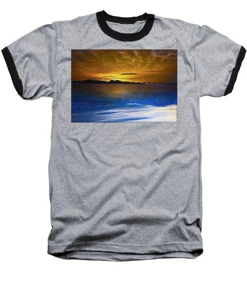 Mediterranean Sunrise Baseball T-Shirt by Hanny Heim