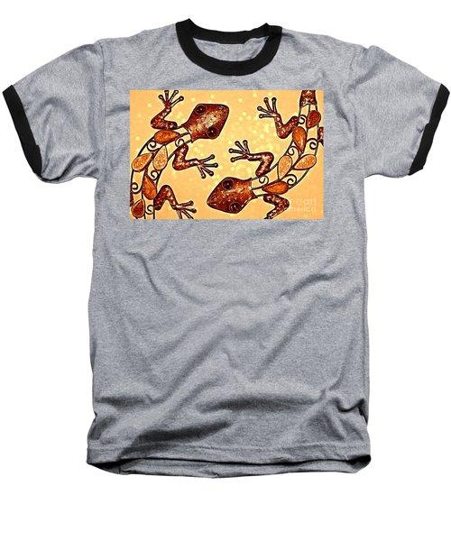 Meet The Geckos Baseball T-Shirt by Clare Bevan