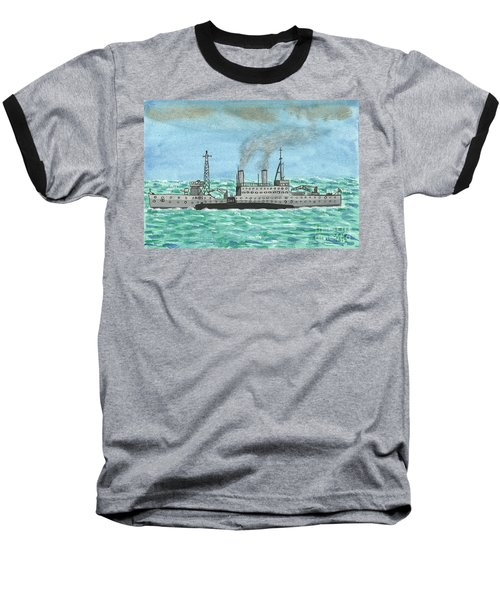 Baseball T-Shirt featuring the painting Meeting For Supplies  by John Williams