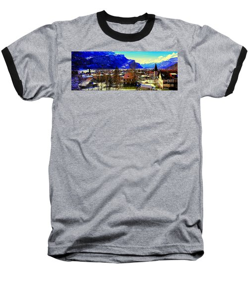 Meiringen Switzerland Alpine Village Baseball T-Shirt
