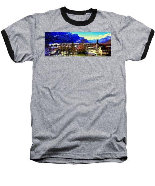 Meiringen Switzerland Alpine Village Baseball T-Shirt