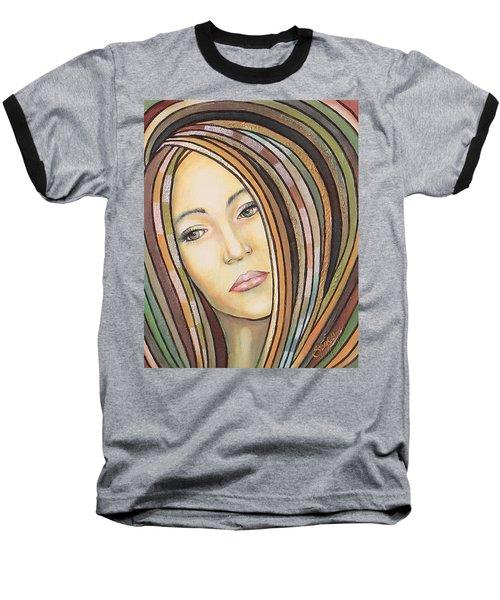 Baseball T-Shirt featuring the painting Melancholy 300308 by Sylvia Kula