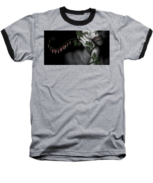 Baseball T-Shirt featuring the painting Melancholy by Pat Erickson
